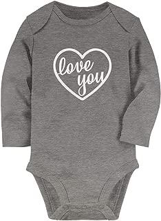 Tstars - Valentines Day Cute Gift Love You Heart Baby Long Sleeve Bodysuit