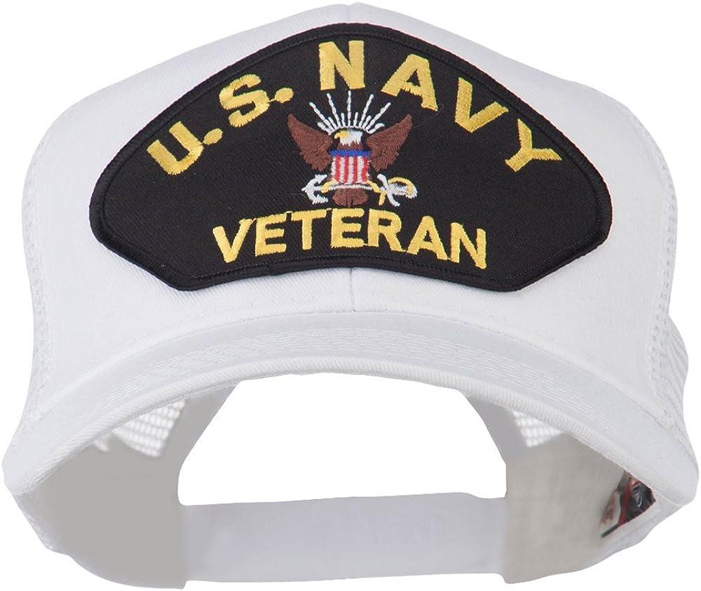 e4Hats.com US Navy Veteran Military Patch Mesh Back Cap