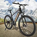 Bicicleta Eléctrica de Montaña Mountain Bike de 27,5 Pulgadas Batería Extraíble de 36V 10Ah Bicicleta eléctrica Inteligente Urbana Trekking