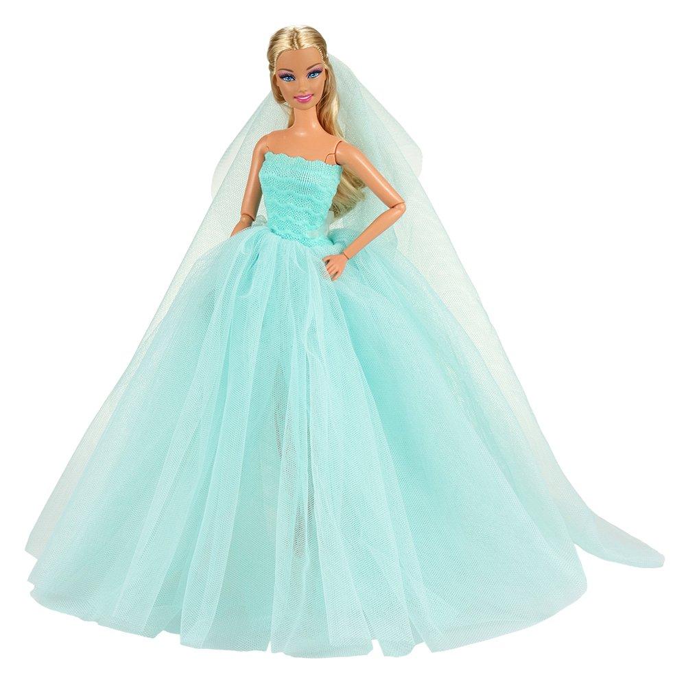 BARWA Light Blue Wedding Dress