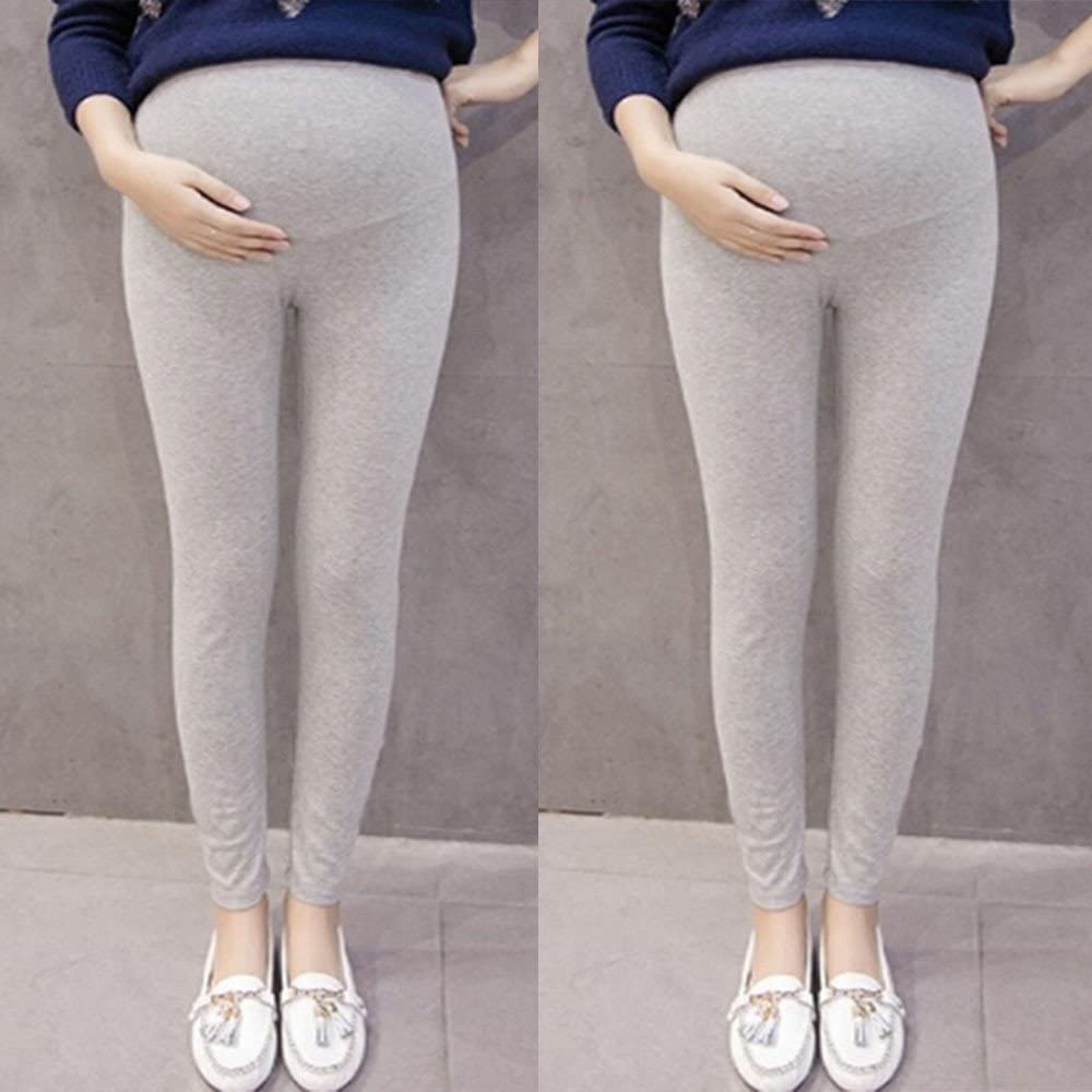 Maternity Leggings Leggings Cotton Elasticity Lightweight and Thin Pajamas Pants Solid Color Casual Women Pregnancy Autumn Winter Maternity Support Abdomen Sheath Trousers