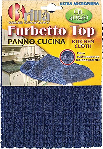 LA BRIANTINA DI POLI GIOVANNI S.P.A Panno Cucina Furbetto Top in Ultra Microfibra 40x40 cm, Multicolore, 40x40