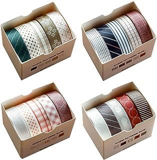 Pveath Washi Tape 20-delige set, decoratieve band afplakband tape decoratief kleurrijk plakband voor doe-het-zelf knutsele...