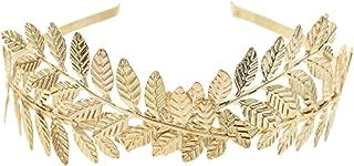 Roman Goddess Hairband Headband Crowns Gold Leaf Dainty Wedding Hair Accessories Women Tiaras Bridal Forehead Alice Band Jewelry,0651g