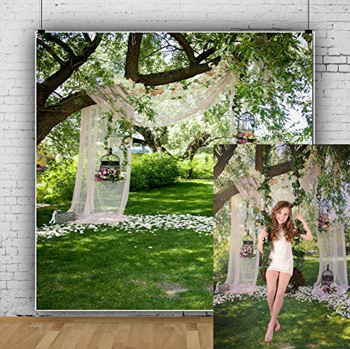 Cassisy 2,5x2,5m Vinilo Boda Telon de Fondo Al Aire Libre Arco de la Boda romántica Decoración Elegante Luz del Sol Fondos para Fotografia Party Los Amantes Photo Studio Props Photo Booth