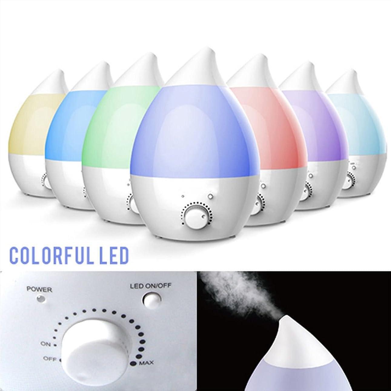 穿孔する神フレームワーク1.3L超音波式 アロマ加湿器ディフューザー しずく型 無段階加湿量調整 7色自動変換LED付き(ホワイト)【ATTYOUオンラインオリジナル商品】