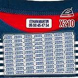 210 Étiquettes thermocollantes pour vêtements personnalisables pour marquer les affaires des enfants à l'école - Sans Solvant