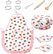 Chranto Lucky 7 Kids Cooking and Baking Set - 11Pcs Kitchen Costume Role Play Kits with Apron