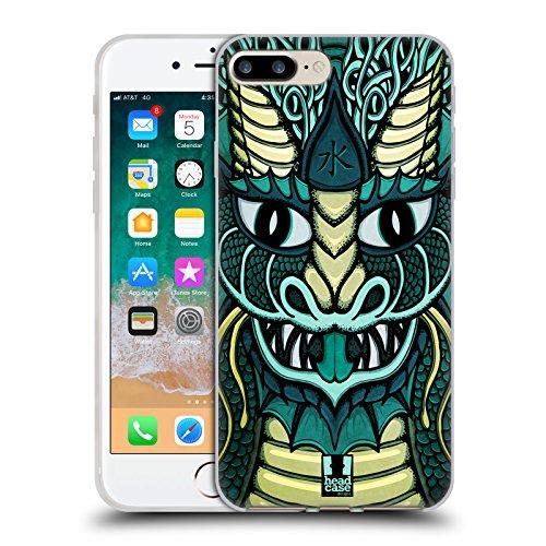 Head Case Designs Acqua Draghi Elementali Cover in Morbido Gel Compatibile con Apple iPhone 7 Plus/iPhone 8 Plus