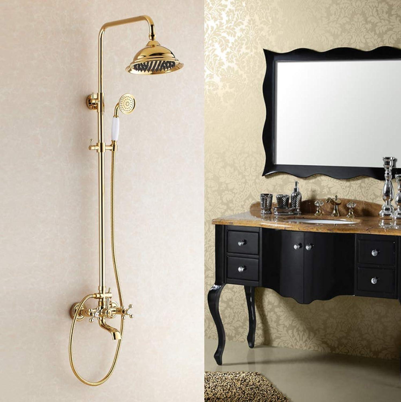 LHW Shower Set chset, Handbrause, Multifunktionsduschkopf, Europische Abhebe-Dusche, zweihndig verGoldeter Duschkopf