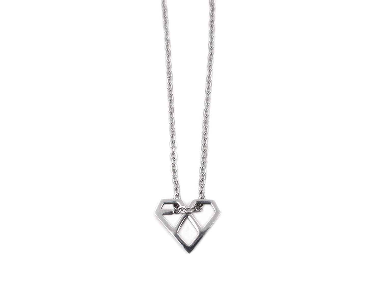 Fanstown Kpop EXO Necklace Titanium Mini Size Official Same Style Merchandise Accessories Send with Lomo Card and Gift Box