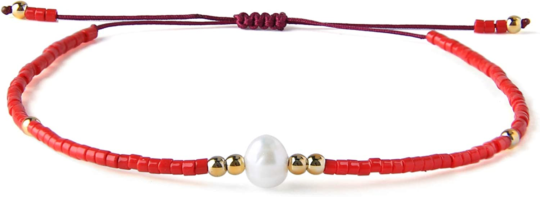 KELITCH Miyuki Seed Bead Link Bracelet For Women Handmade Charm Strand Chain Bracelet Fashion Jewelry Gift