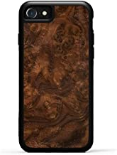 product image for Carved - iPhone 8 - Luxury Protective Traveler Case - Unique Real Wooden Phone Cover - Rubber Bumper - Walnut Burl