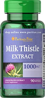 Puritans Pride Milk Thistle Extract 1000 Mg (silymarin), 90 Count (MP_1000010016)