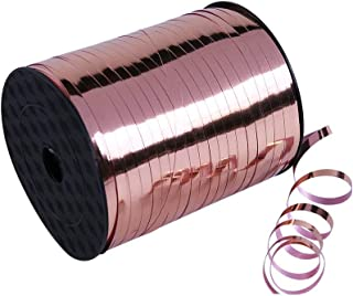 Teemico 500 Yards Rose Gold Crimped Curling Ribbon Roll Foil Balloon Ribbon for Wedding Birthday Party Balloons Decor Gift...