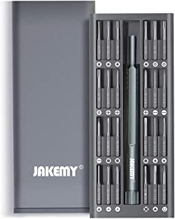 25 in 1 S-2 Bits Precision Screwdriver Set Repair Tool Kit Magnetic Screwdriver Bit Aluminum Case for iPhone/Smartphone/P...