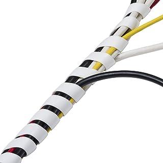 D-Line CTW2.5W Organizador de Cables en Espiral de 2,5 m longitud, Blanco