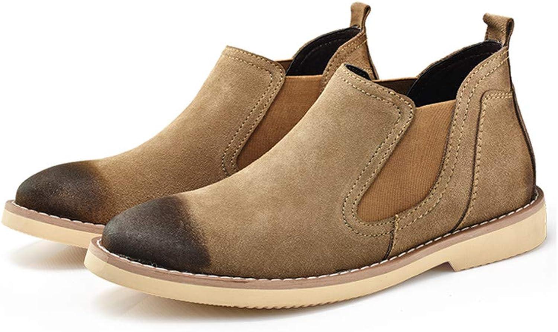 Dig dog bone Men's Chelsea Boots Casual Classic Mid-top British Restoring Ancient Ways Work shoes