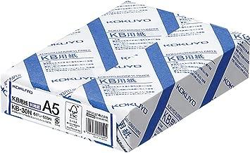 Kokuyo KB paper both FSC-certified paper 64g A5 500 sheets KB-30N (japan import)
