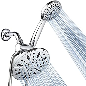 AquaDance 7  Premium High Pressure 3-Way Rainfall Combo Combines The Best of Both Worlds-Enjoy Luxurious Rain Showerhead and 6-Setting Hand Held Shower Separately or Together Chrome