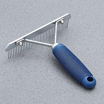 UKCOCO Brosse de Peigne pour animaux chiens et chats Quitar et Remover poils morts Astronaut peigner Massage Peigne (Bleu)