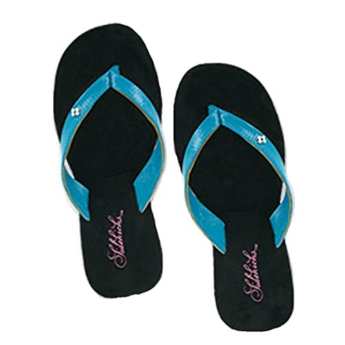 ebc64980f0b78e Sidekicks Foldable Flip Flop Sandals - with Carrying Pouch - Turquoise -  Small