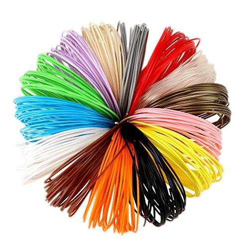 ZITFRI PLA Filament für 3D Stift / 3D Drucker 1,75mm 14 Farben umweltfreundliche 3D Print Filament je 6,1M