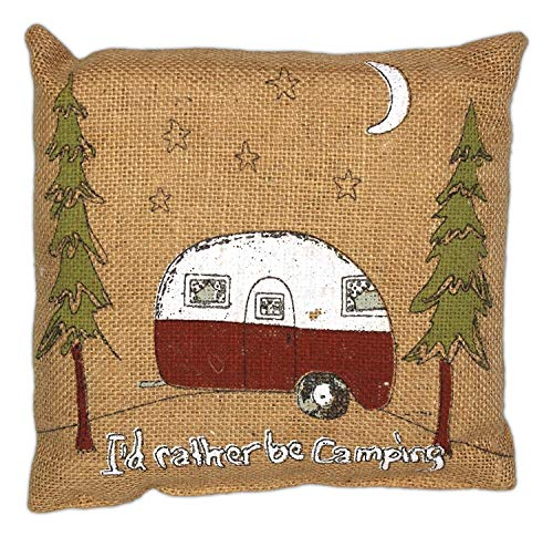 I'd Rather Be Camping Accent Pillow