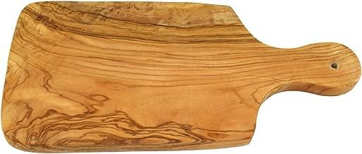 Presto pezzi tagliere in legno di ulivo D.O.M, con manico 30 cm