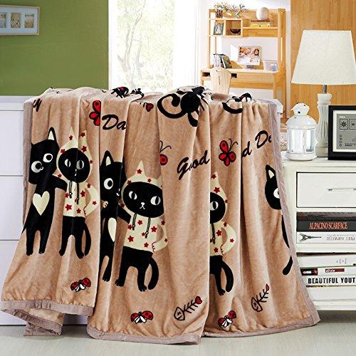 Global- couvertures de motif de chat loisirs couverture Climatisation couverture siesta couverture loisirs bureau de couverture mignon tapis Coral draps polyester tapis (taille : 200 * 230cm)