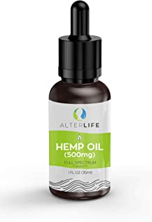 Hemp Oil Drops 500mg for Pain Relief - Helps with Anxiety & Improves Sleep Quality - 5% Full Spectrum 1 Fl Oz. (30 ml) - Organic Hemp Oil Lotion - 100% Natural, Vegan, Organic