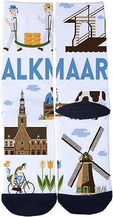 Men's Women's Custom Alkmaar Fashion poster Socks 3D Print Novel Creative Casual Crew Socks