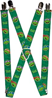 Nickelodeon Men's Buckle-Down Suspender-Ninja Turtles, Multicolor, One Size