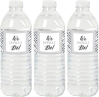 We Still Do - Wedding Anniversary - Anniversary Party Water Bottle Sticker Labels - Set of 20