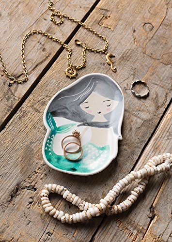 Danica Studio Mini Ceramic Trinket Tray, Mermaid
