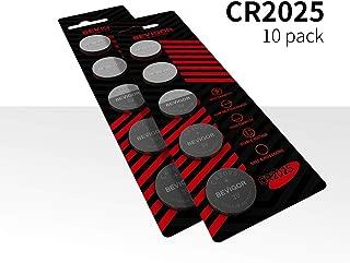 Bevigor CR2025 3V Lithium Coin Battery - Long Lasting Battery - 10 Count