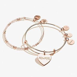 Alex and ANI Harry Potter Bangle Bracelet Rose Gold/Always One Size