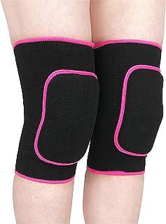 Rodilleras de esponja Baile de rodillas protector engrosado Danza de entrenamiento de voleibol gateando Rodilleras y codos rojos