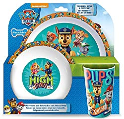 MEAL TIMES: Whether you're serving soup, salad, snacks, or anything in between, kids can eat with their favourite Paw Patrol characters. It's a great addition to any household - kids love these durable and perfectly-sized dishes. DINNER SET: Matching...