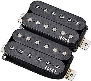 EMG Super 77 Retro Active Electric Guitar Humbucker Pickup Set, Black