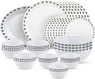 Larah by Borosil - Moon Series, Fabula 36 Pieces Opalware Dinner Set, White