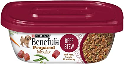 Purina Beneful Prepared Dog Food Meal Beef Stew Tub, 283G