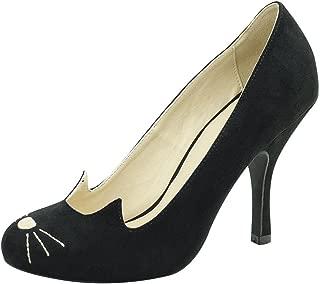 A8813L Womens Heels, Sophisticated Kitty Heels - US: Womens 9 Black