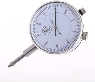 Vktech Dial Indicator Gauge 0-10mm Meter Precise 0.01Resolution Concentricity Test