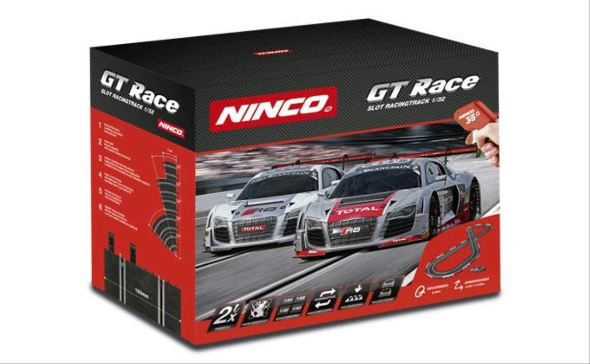 Ninco - GT Race. Circuito Pista de Slot. Incluye 2 Coches Audi R8 GT3. 20195