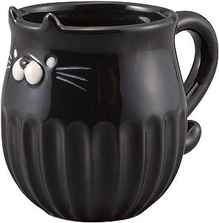 デコレ(Decole) マグカップ くろ Φ8.5×12×H9.6cm しのぎのねこマグ MG-61626