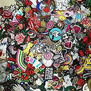 PJYFTS 30pcs/lot Random Fashion Patches For Women Lovely Girls Kids Iron On Patch For Clothing Applique Sticker DIY Access...
