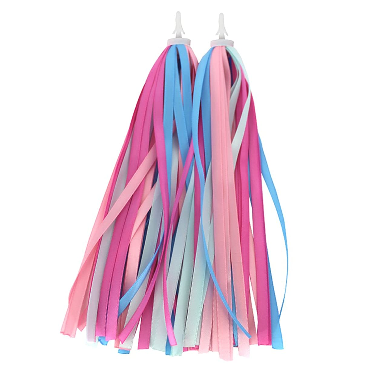 BESTCYC 1pair(2pcs) 25cm Kid's Bike Scooter Handlebar Colourful Polyester Streamers Bicycle Grips Colorful Ribbons Tassel Baby Carrier Accessories