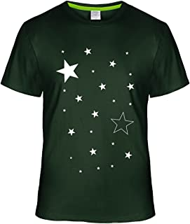 May26 White Five-Pointed Star Tee Shirts for Mens