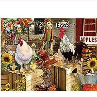 大人と子供のためのジグソーパズル500ピース、チキン大人のための挑戦的なゲームギフトおもちゃ子供ティーン家族パズル